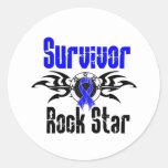 Survivor Rock Star - Colon Cancer Survivor Round Stickers
