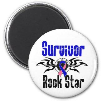 Survivor Rock Star - Male Breast Cancer Survivor 2 Inch Round Magnet