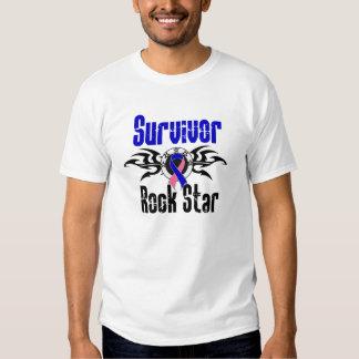 Survivor Rock Star - Male Breast Cancer Survivor Shirts