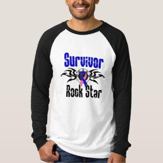 Survivor Rock Star - Male Breast Cancer Survivor T-shirt
