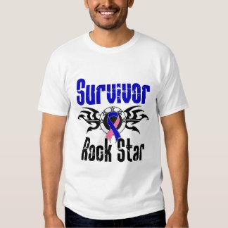 Survivor Rock Star - Male Breast Cancer Survivor T Shirt