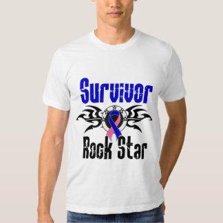 Survivor Rock Star - Male Breast Cancer Survivor T-shirts