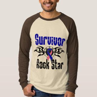 Survivor Rock Star - Male Breast Cancer Survivor Tshirt