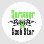 Survivor Rock Star - Non-Hodgkins Lymphoma Classic Round Sticker