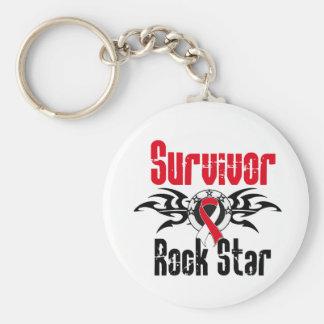 Survivor Rock Star - Oral Cancer Survivor Keychains