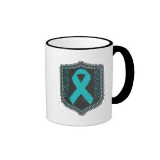 Survivor Stitched Ribbon Patch - Ovarian Cancer Mug