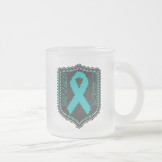Survivor Stitched Ribbon Patch - Ovarian Cancer Coffee Mugs