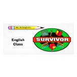 Survivor Student Chalkboard Souvenir Rack Card