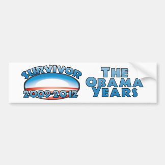 Survivor The Obama Years - Anti Obama Bumper Sticker