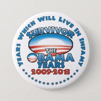 Survivor - The Obama Years - Anti Obama Pinback Button
