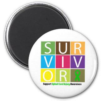 * Survivor Tile Spinal Cord Injury 2 Inch Round Magnet