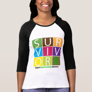 * Survivor Tile Spinal Cord Injury T Shirt