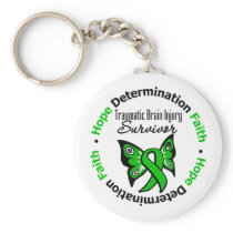 Survivor Traumatic Brain Injury v2 Basic Round Button Keychain
