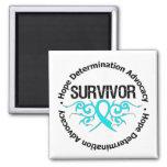 Survivor Tribal Ribbon Addiction Recovery Fridge Magnet