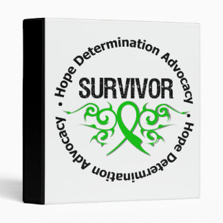 Survivor Tribal Ribbon Spinal Cord Injury Vinyl Binder