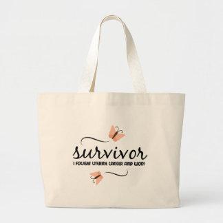 Survivor - Uterine cancer Large Tote Bag
