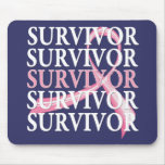 Survivor Whimsical Collage Breast Cancer Mouse Pad