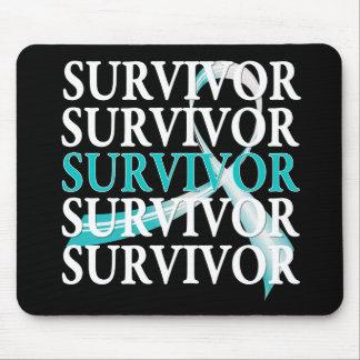 Survivor Whimsical Collage Cervical Cancer Mouse Pad