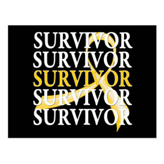 Survivor Whimsical Collage Childhood Cancer Post Cards