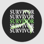 Survivor Whimsical Collage Lymphoma Round Sticker