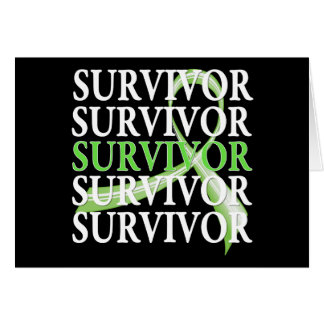 Survivor Whimsical Collage Non-Hodgkin's Lymphoma Greeting Card