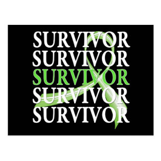Survivor Whimsical Collage Non-Hodgkin's Lymphoma Postcard