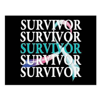 Survivor Whimsical Collage Thyroid Cancer Postcards
