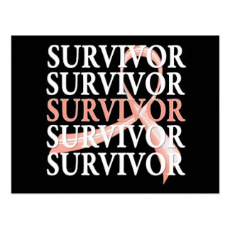 Survivor Whimsical Collage Uterine Cancer Postcard