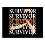 Survivor Whimsical Collage v2 Kidney Cancer Postcard