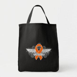 Survivor Winged Swirls - Kidney Cancer Bags