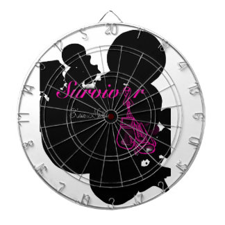 Survivor with ribbon and boxing gloves art dartboards
