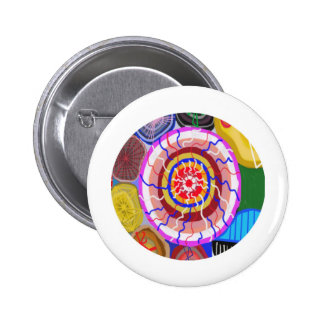 Surya Chakra - energía de la fuente de Sun Pin Redondo 5 Cm