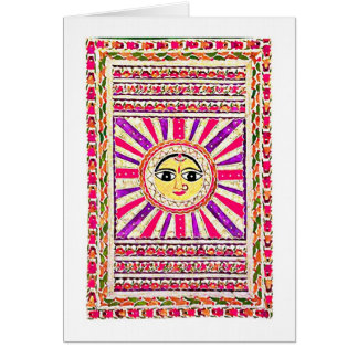 Surya Hindu Sun God Card