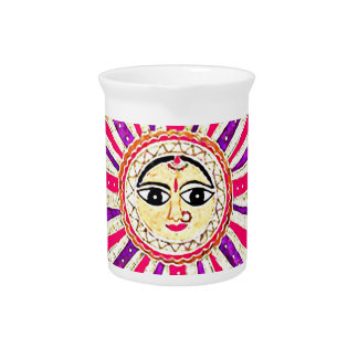 Surya Hindu Sun God Drink Pitcher