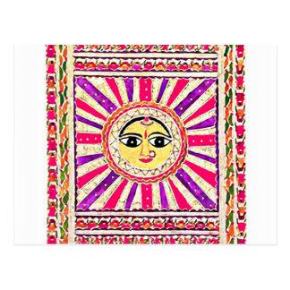 Surya Hindu Sun God Postcard