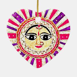 Surya Sun Goddess Ceramic Ornament