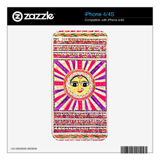 Surya Sun Goddess Decals For The iPhone 4