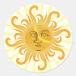 Suryadev : The Sun Classic Round Sticker