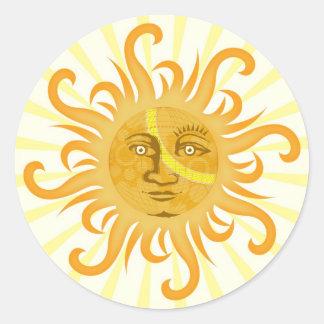 Suryadev: The Sun Pegatina Redonda