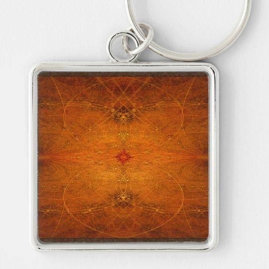 Suryasta Sun Salute Abstract Art Keychain
