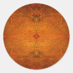 Suryasta Sun Salute Abstract Art Classic Round Sticker