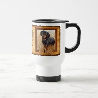 Sus 2 FOTOS, 4 tazas de la foto del perro de las