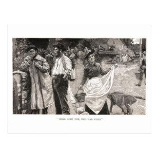 Sus buenos hombres, que tenían votos tarjetas postales