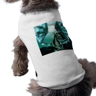 Sus camisetas sin mangas acanaladas del perrito de camiseta de mascota
