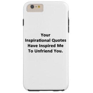 Sus citas inspiradas funda de iPhone 6 plus tough