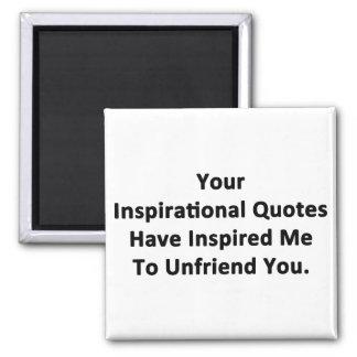 Sus citas inspiradas imán cuadrado