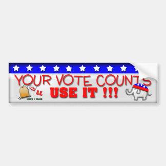 Sus cuentas del voto etiqueta de parachoque