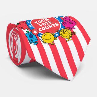 ¡Sus cuentas del voto! Corbatas