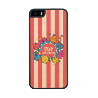 ¡Sus cuentas del voto! Funda De Arce Carved® Para iPhone 5 Slim