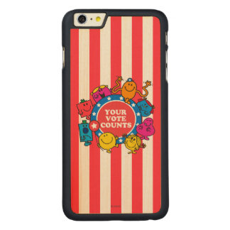¡Sus cuentas del voto! Funda De Arce Carved® Para iPhone 6 Plus